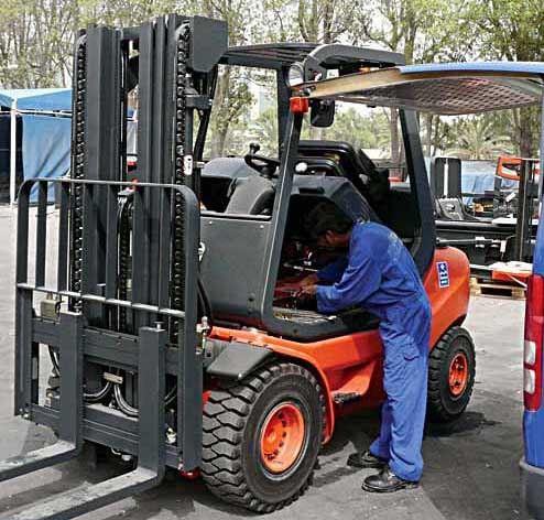 Технічне обслуговування вилкового автонавантажувача
